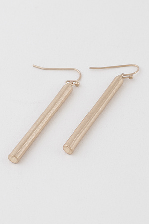 Simple Cylinder Drop Earrings