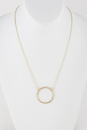 Simple Circle Necklace 9ICA2