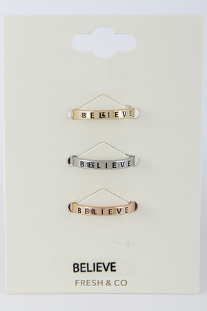 Believe Ring Set 8DAB4