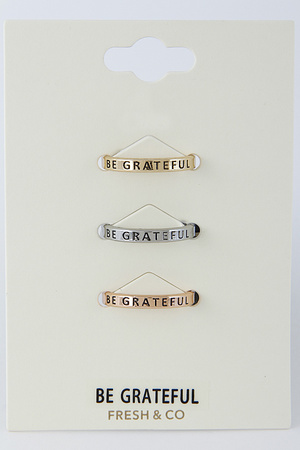 Be Grateful Ring Set 8DAB4