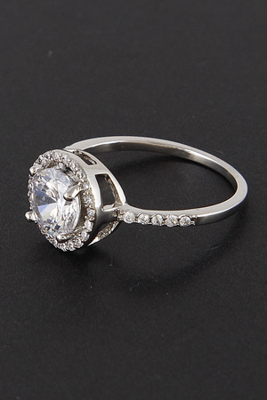 Round Deep Cut CZ Ring 8EAC6