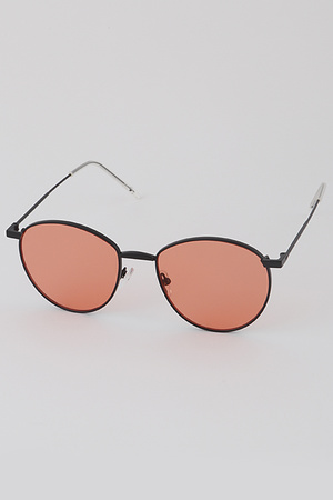 Pop Color Lens Round Sunglasses