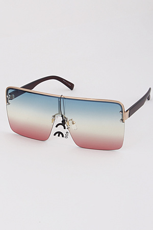 One Line Tinted Fashion Sunglasses