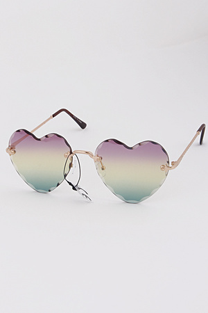 Heart Frame Tinted Sunglasses