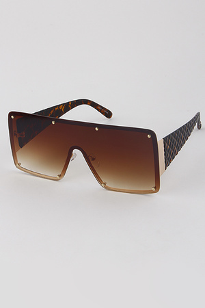 Rectangle Brown Shade Sunglasses