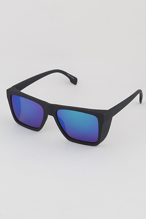 Pop Color Lens Rectangle Sunglasses