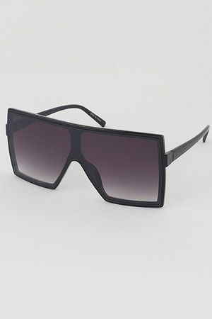 Tinted Big Eye Square Sunglasses