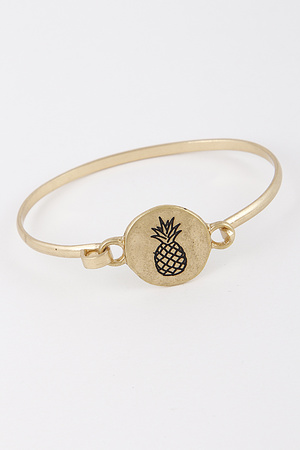 Cute Metal Bracelet With Pineapple Drawing 8IBB8