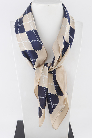 Grid Line Plaid Scarf