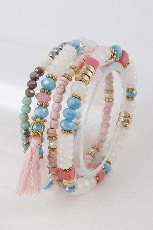 Tassel and Bead mixed Bracelet 9EBE5