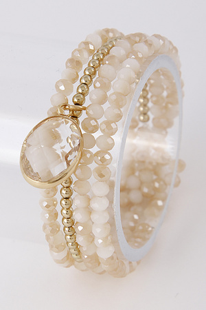 Bright Bracelet Set With Pearl Detail 8HAE7