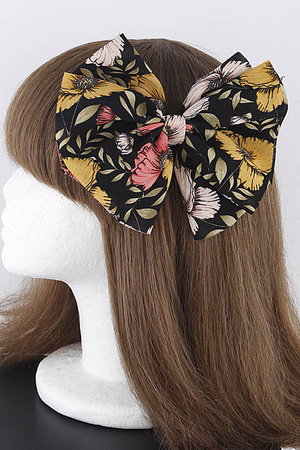 Flowers On Your Head Ribbon Hairpin