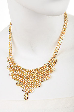 Rows of Chunky Chain statement necklace-3eci3
