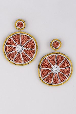 Beaded Orange Earrings 9ACC5