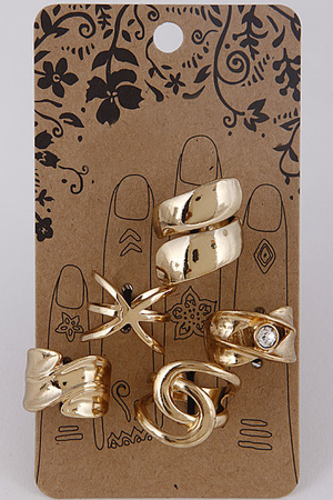Metallic Antique Style Ring Set 7GCB3