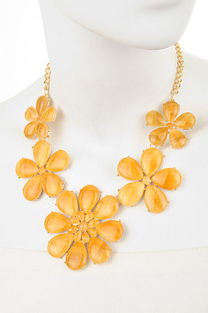 Fancy floral statement necklace set-dbc2