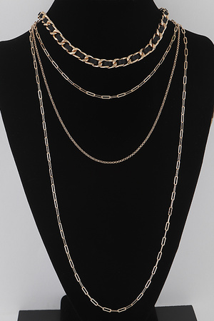 Faux Leather Chain Necklace