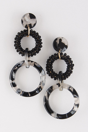 Lady Luck Linked Circle Earrings 8HAB9