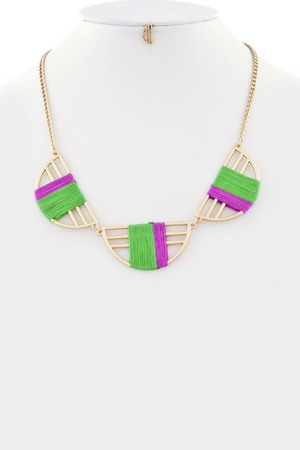 Colored tread pendant necklace 3LBD5