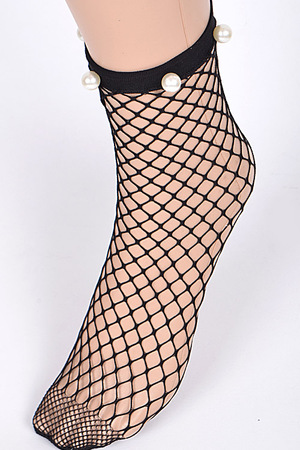 Net Sock With Pear Details
