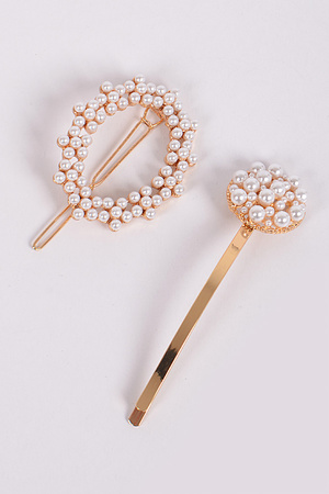 Pearl Wreath Hairpin