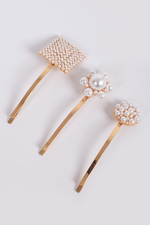 Simple Flower Pearl Hairpins