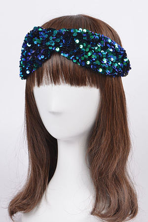 Sequin Embellished Stretchy Headband