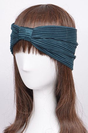 Pleated Solid Color Headwrap