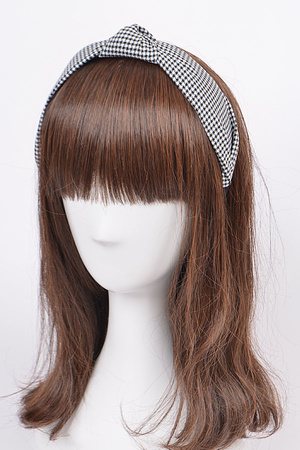 Gingham Turban Headband