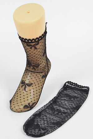 Ribbon Mesh Socks