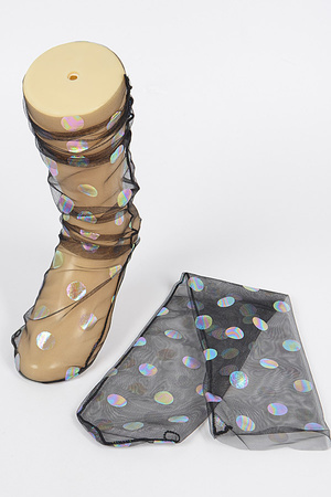 Polka Dot Mesh Socks