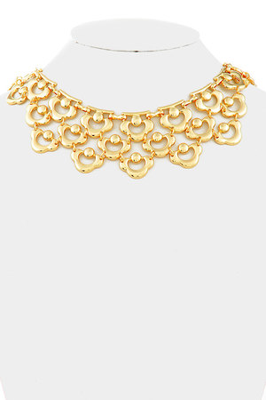 Gold cut off statement Necklace_3hag13