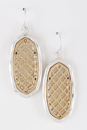 Oval Antique Style Earrings 8AAC5