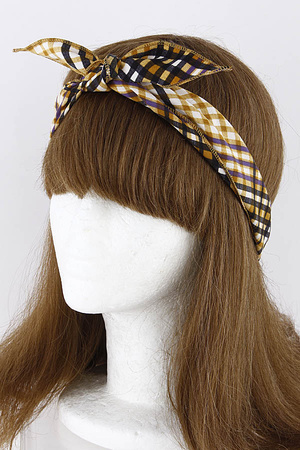 Checkered Two-Tone Headband 9ECA