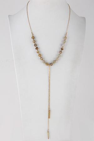 Western Stone Beaded Long Necklace 8BBE3