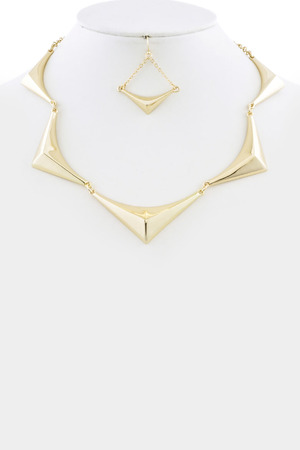 Thin statement necklace 3LAG4