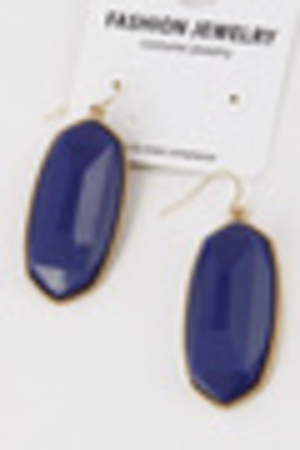 Formal Edge Stone Oval Hook Earrings 6ibh10
