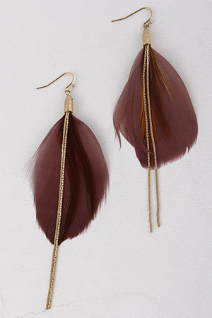Feather Charm Earrings 7LBE9